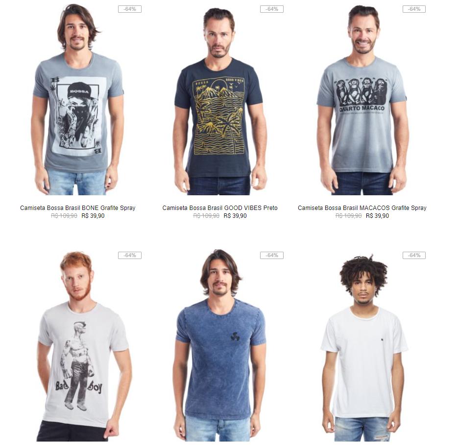 4POR109M - Kanui - 4 Camisetas por R$109 - 4POR109M