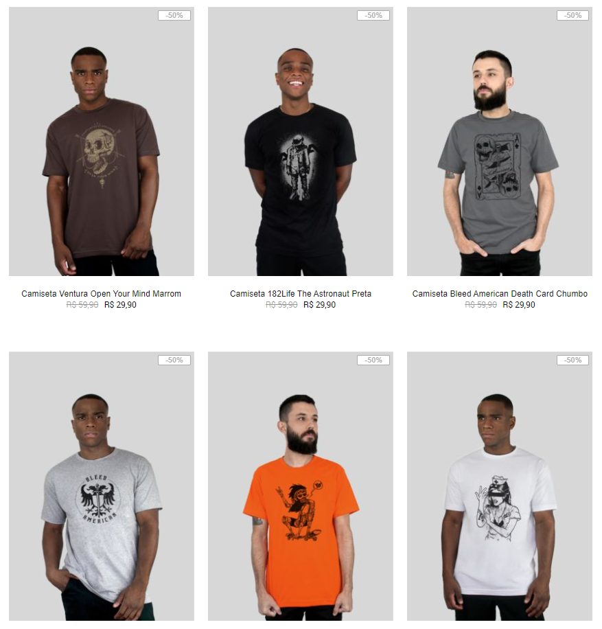 6CAM109A - Kanui - 6 Camisetas por R$109 - 6CAM109A