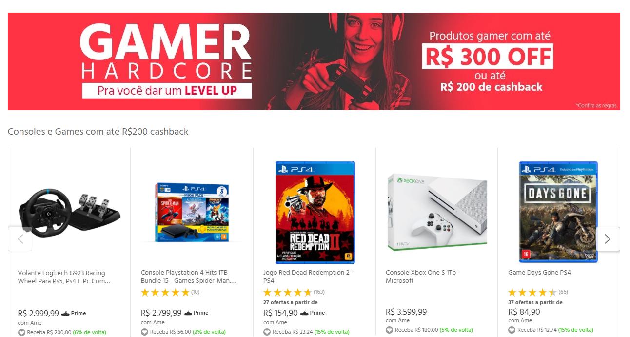 gamer - Submarino - Produtos Gamer com até R$300 OFF