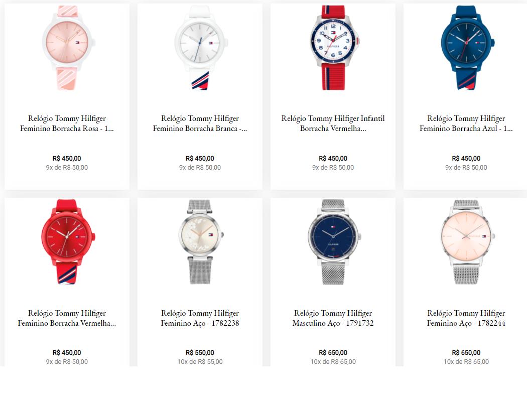 relogio tommy hilfiger - Vivara - Relógios Tommy Hilfiger a partir de 9x de R$50,00 cada