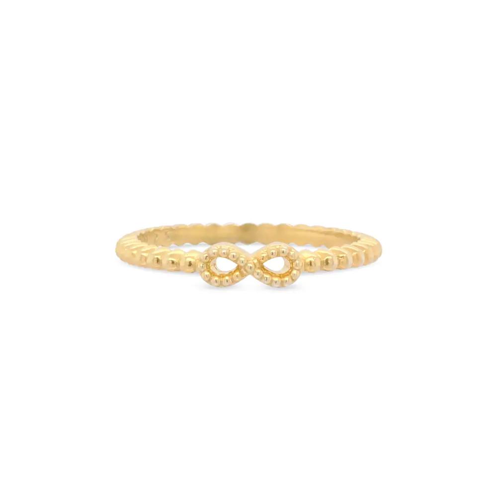 anel life banho ouro - Vivara - Anel Life Infinito Com Banho Ouro Amarelo - R$119,00