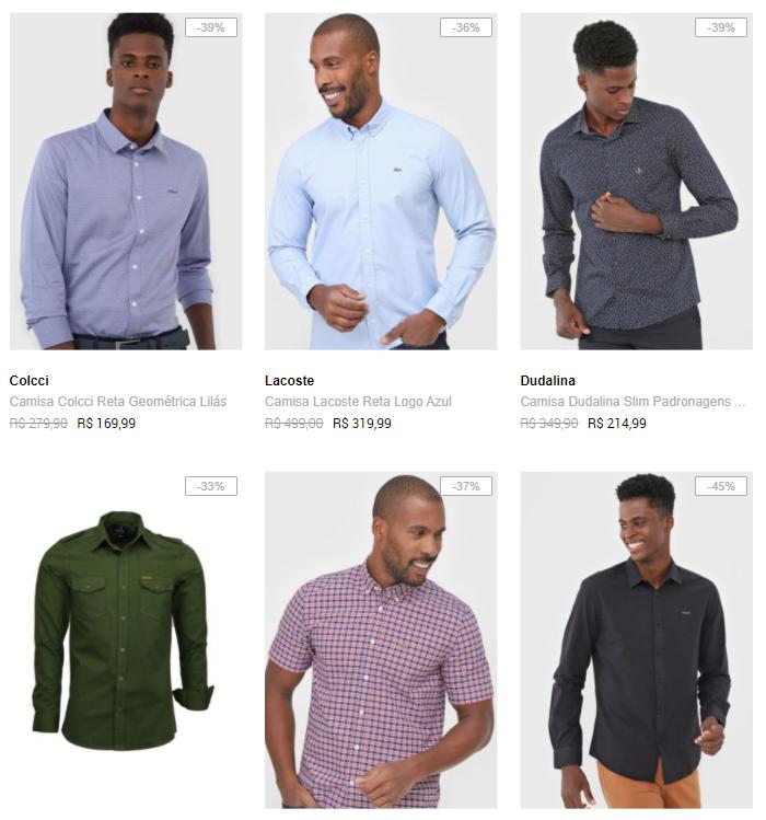 camisas top marcas - Dafiti - Camisas Top Marcas Até 50% OFF