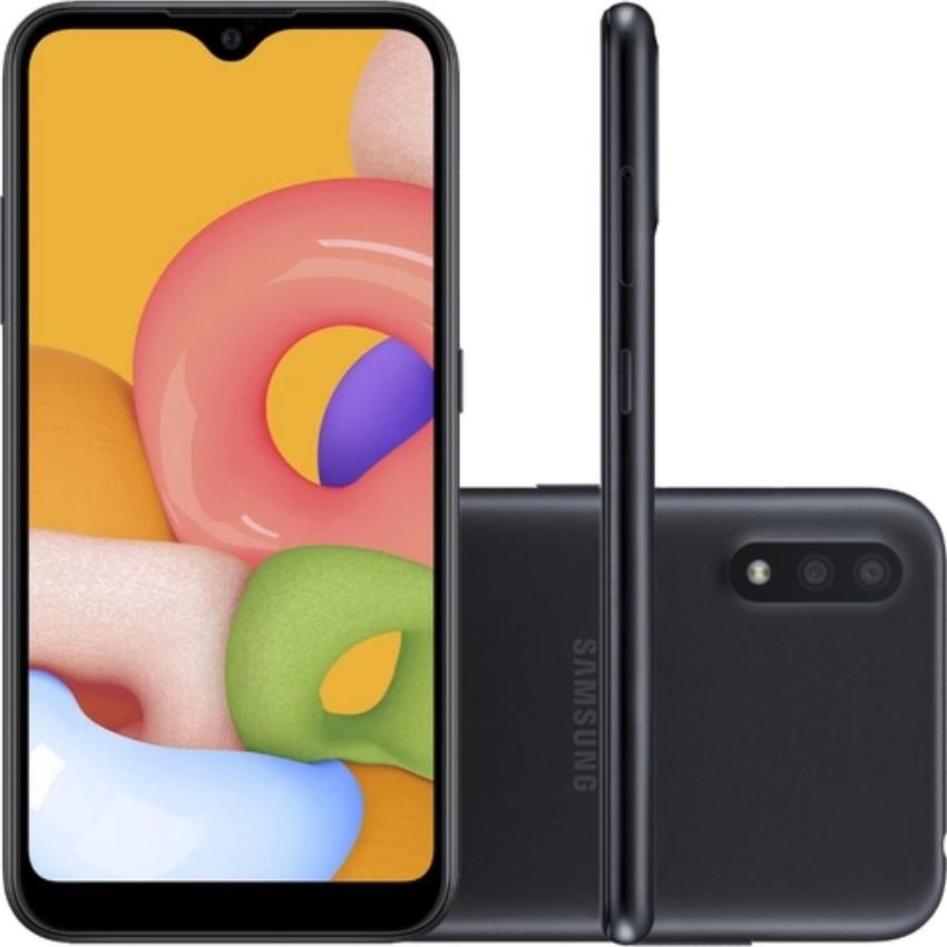 smart phone - Americanas - Samsung Galaxy A01 - R$699