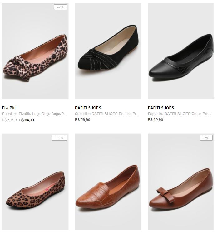 3 sapatilhas 99 - Dafiti - 3 Sapatilhas ou Rasteiras por R$99