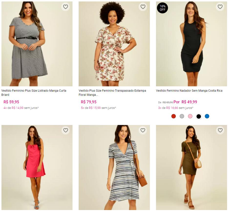 vestidos - Marisa - 2 Vestidos por R$99