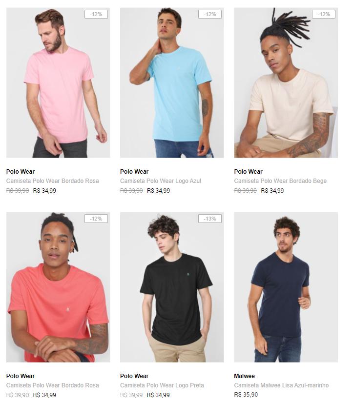 3CA89M - 🔥 Dafiti - 3 Camisetas por R$89 - Cupom: 3CA89M