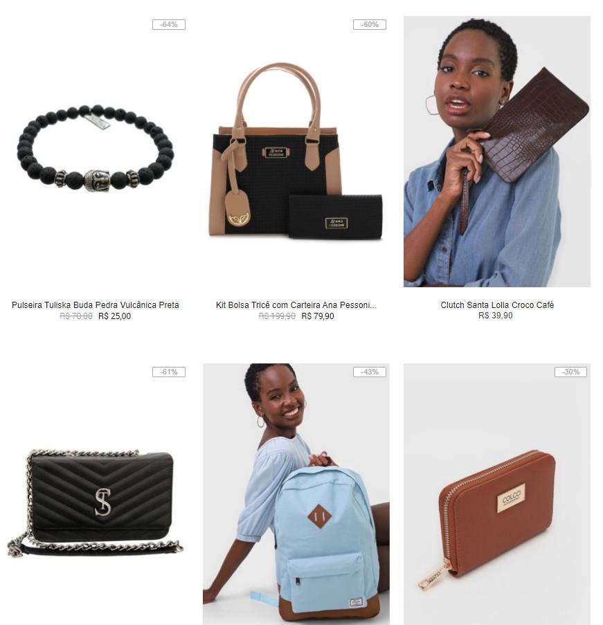 bolsas mochilas - Kanui - Bolsas, Mochilas e Acessórios até R$79,99