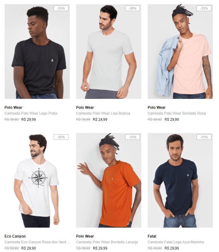 camisetas 1 - Dafiti - Camisetas até R$29