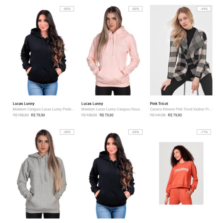 jaquetas moletons femininos - Dafiti - Jaquetas e Casacos Femininos até 60% OFF