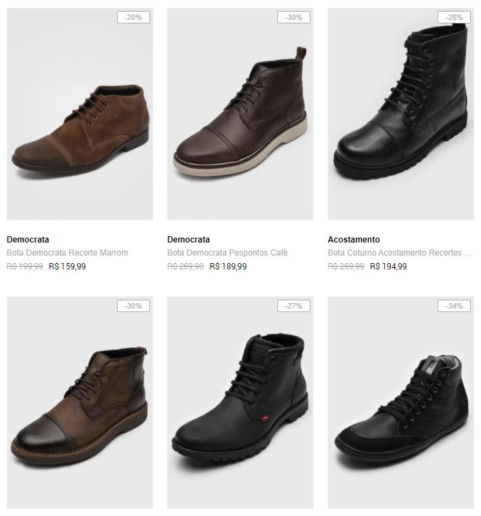 botas masculinas - Dafiti - Botas Masculinas até 40% OFF