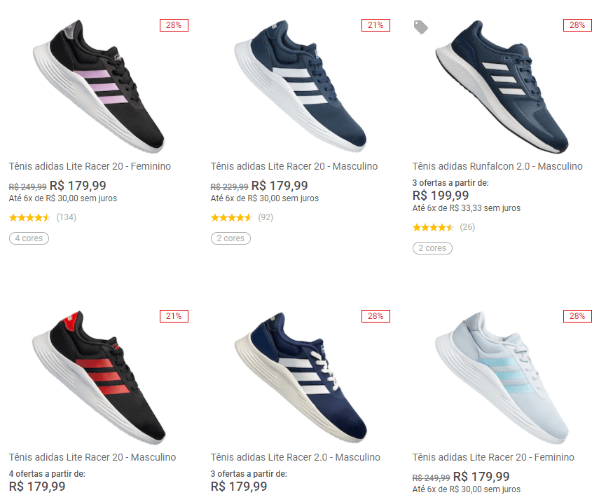 2ADIDAS299 - Centauro - 2 Tênis Adidas por R$299 - 2ADIDAS299