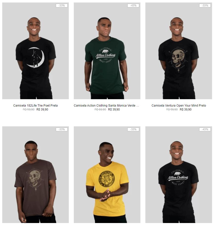 3CAM99 - Kanui - 3 Camisetas por R$99 - 3CAM99