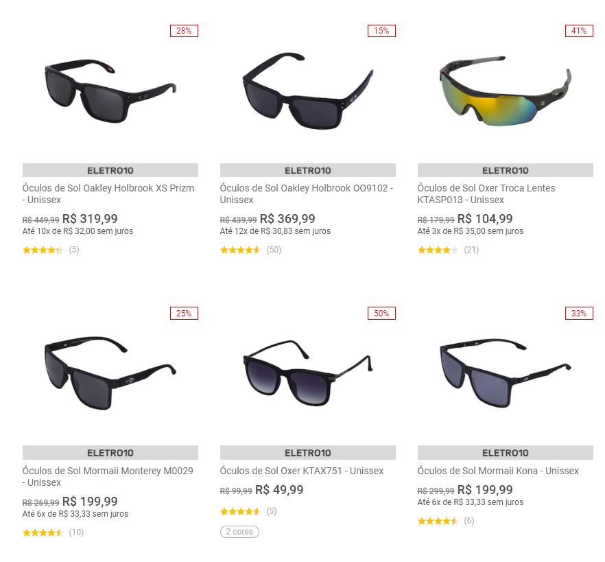 VISAO10 - Centauro - Cupom de 10% OFF em Óculos de Sol