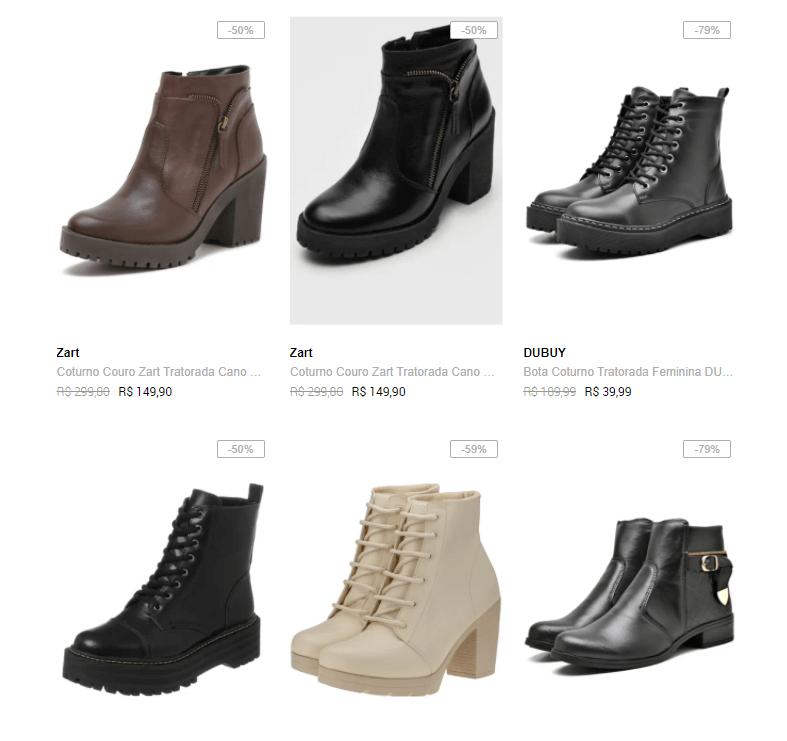 botas metade preco - Dafiti - Botas femininas pela metade do preço