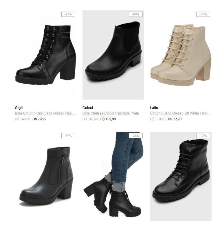 botas - Dafiti - Botas Femininas até 70% OFF