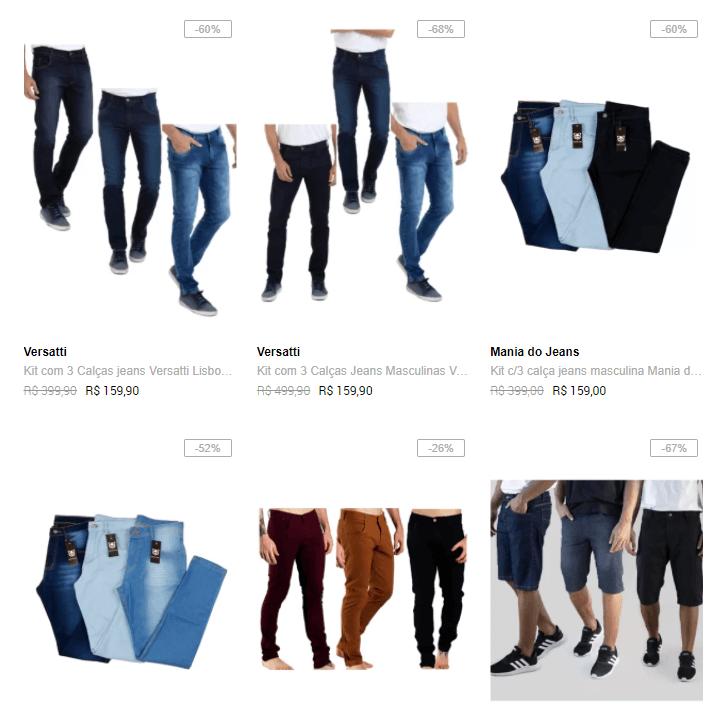 kit calcas jeans - Dafiti - Kit 2 Calças Jeans Masculinas por R$119