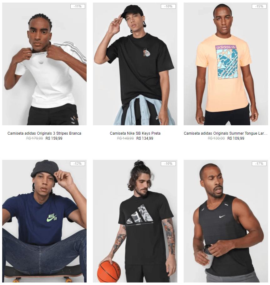 nike puma adidas camisetas - Kanui - Camisetas Nike, Puma e Adidas até 40% OFF