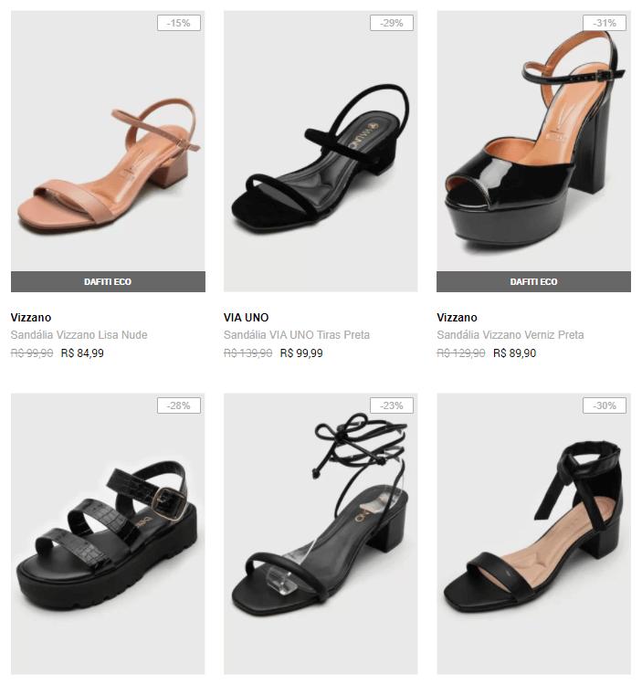 2SANDALIAS149 1 - Dafiti - Sandálias - 2 Por R$149 - Novos Modelos