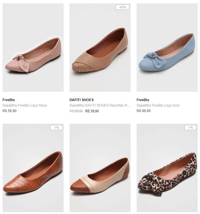 3 sapatilhas 99 - Dafiti - 3 Sapatilhas da lista por R$99