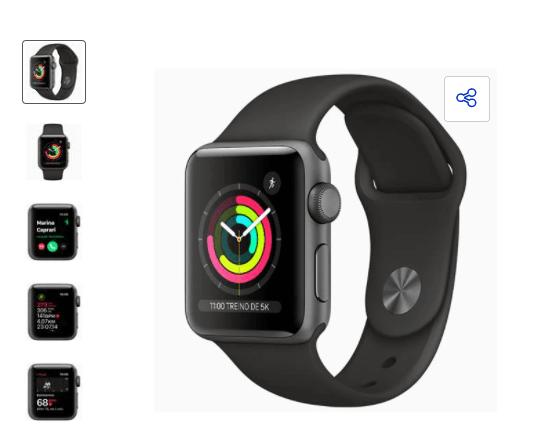 apple watch - Casas Bahia - Apple Watch Series 3 (GPS) - 12x de R$141,58