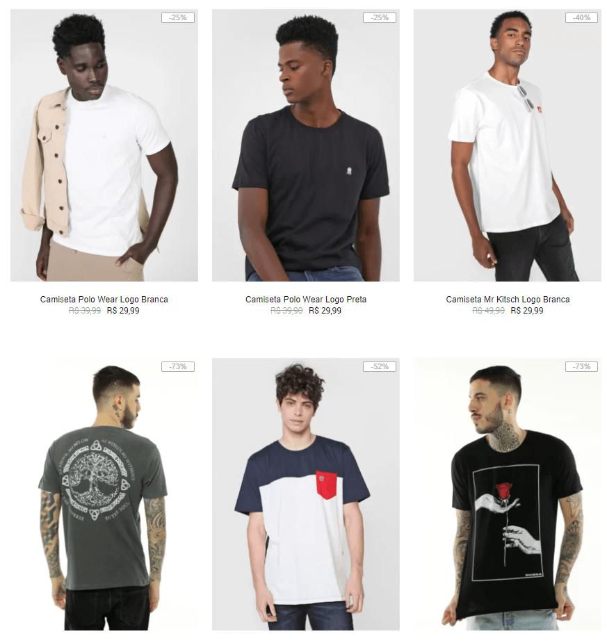 camisetas - Kanui - Camisetas até R$29,99