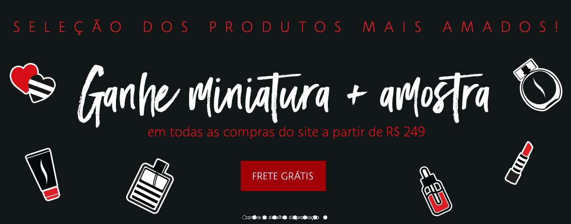 miniatura amostra - Sephora - Ganhe uma Miniatura e uma Amostra*